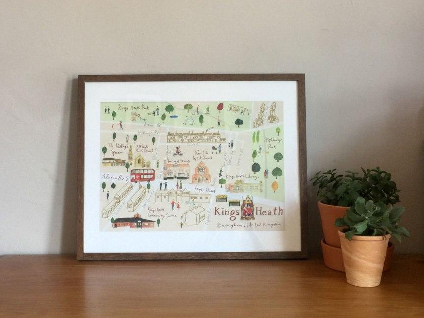 Kings Heath Map Illustration by Tsz Wan
